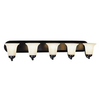 Rusty Rubbed Oil Bronze 5-light Vanity Bar