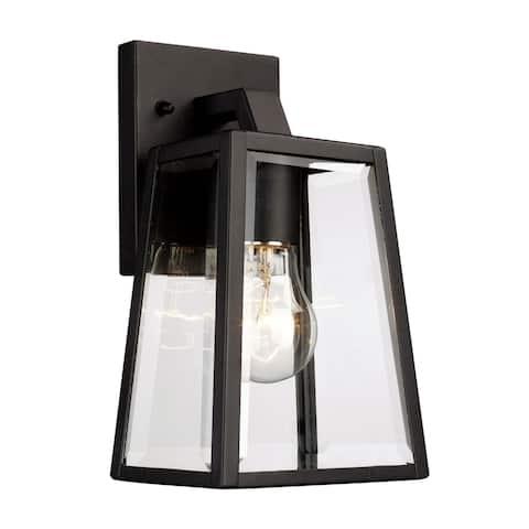 Obsidian Black 1-light Wall Lantern