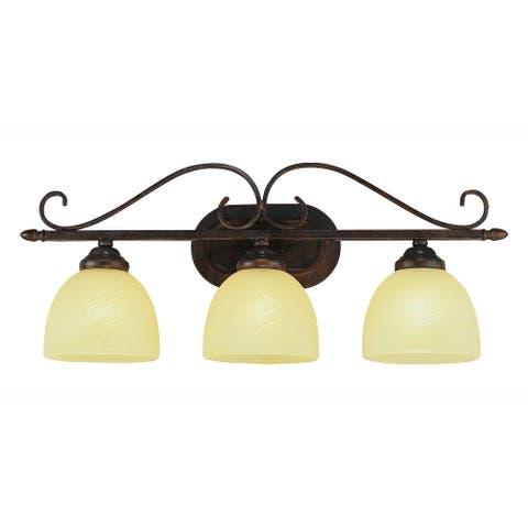 Owens Rubbed Oil Bronze 3-light Vanity Bar