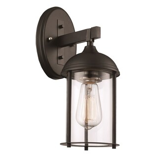 Blues Black and Brushed Nickel 1-light Wall Lantern