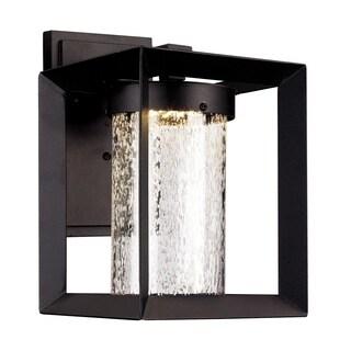 Taylor Black Integrated LED Wall Lantern