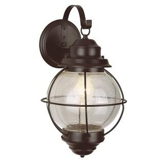 Catalina Black 1-light Wall Lantern