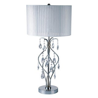 Furniture of America Jena Transitional Crystal Drop Table Lamp