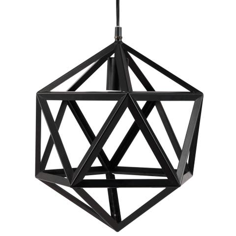 Furniture of America Lyd Contemporary Black Metal Chandelier