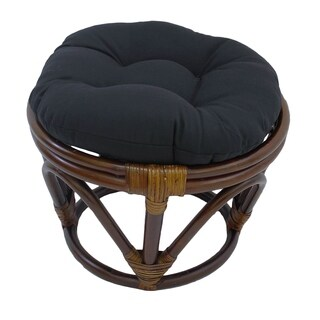 International Caravan Bali Papasan Footstool with Cushion (More options available)