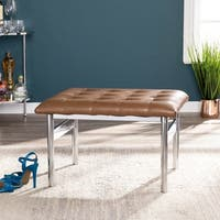 Clay Alder Home Liberty Caramel with Silver Small Space Bench