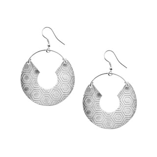 Handmade Jaladhi Silver Honeycomb Earrings (India)