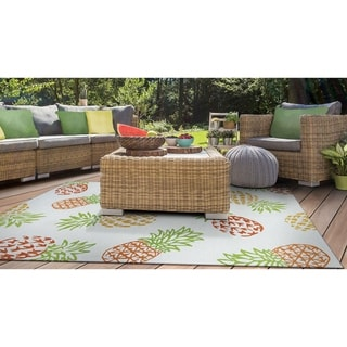 Miami Pineapples Multicolor Indoor/Outdoor Area Rug - 8' x 11'