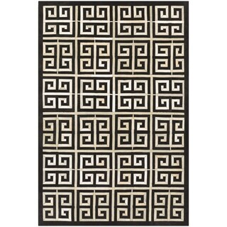 Couristan Chalet Meander Black-Ivory Area Rug - 2' x 4'