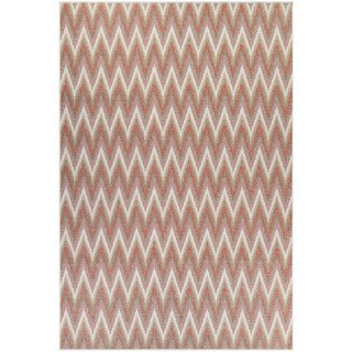 Samantha Zigzag Terra Indoor/Outdoor Area Rug - 2' x 3'7""