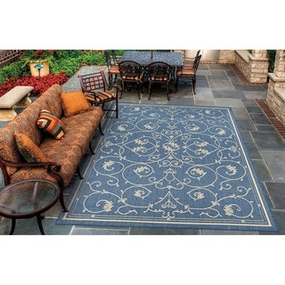 "Pergola Savannah Champagne-Blue Indoor/Outdoor Area Rug - 2' x 3'7"""
