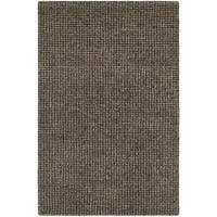 Hand-Crafted Barlow Twill Weave Dark Brown Area Rug - 2' x 4'