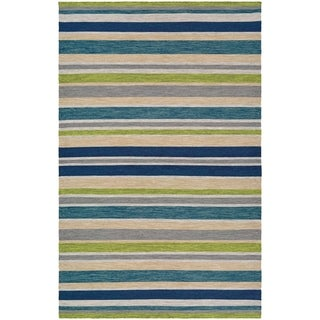 Couristan Cottages Alki Ocean Shades Indoor/Outdoor Runner Rug - 2'3 x 8'