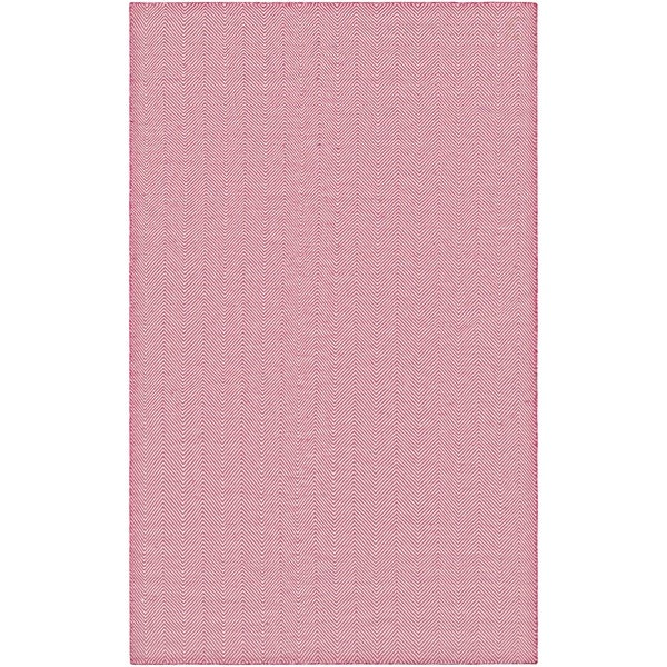 Couristan Cottages Bungalow Pink Indoor/Outdoor Runner Rug - 2'3 x 8'