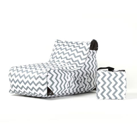 OVE Decors Paola Chevrons Print Lounge Chair