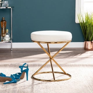Silver Orchid Grant Brass with Sand Small Space Stool