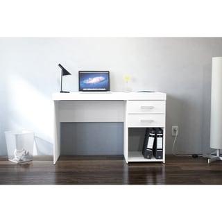 Link to Polifurniture Malta 2 Drawer Computer Desk, White Similar Items in Desks & Computer Tables