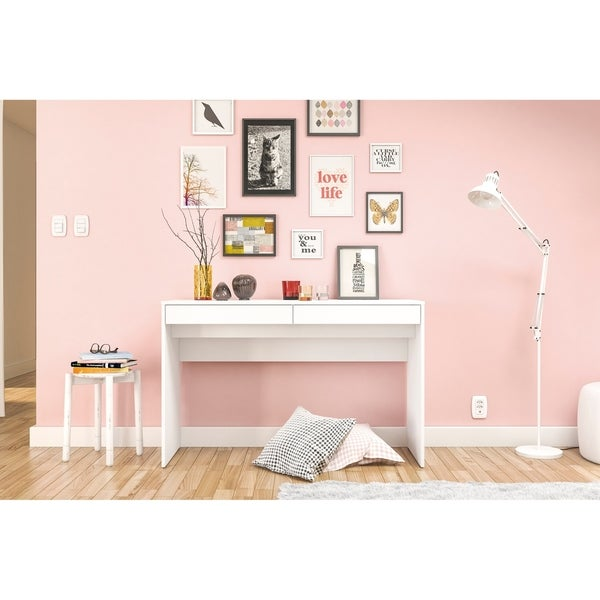 Shop Polifurniture Lindoia 2 Drawer Desk, White