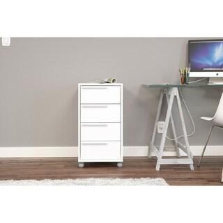 Polifurniture Maia 4 Drawer File Cabinet, White