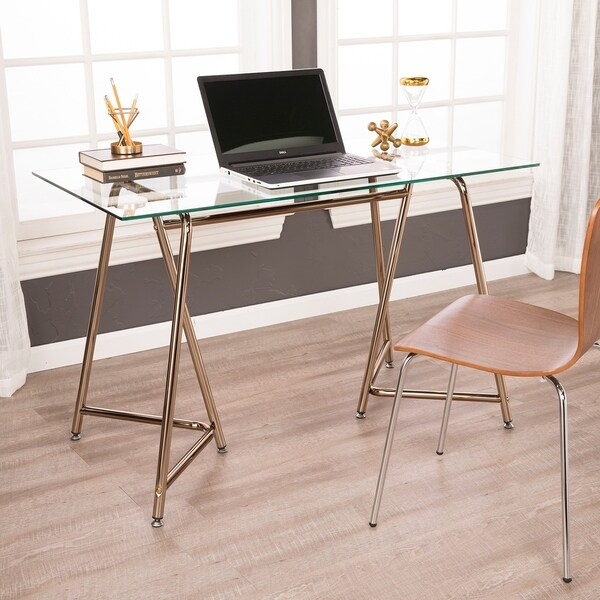 Holly & Martin Holme Writing Desk - Midcentury Modern Style - Champagne