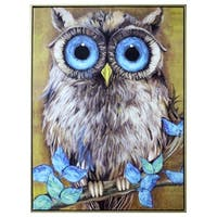 Athene Noctua Canvas Wall Art - multi