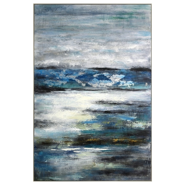 Azzurro Canvas Wall Art - Multi-color