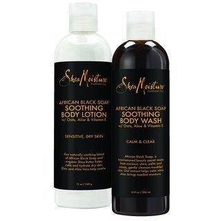SheaMoisture African Black Soap 13-ounce Body Wash & Body Lotion