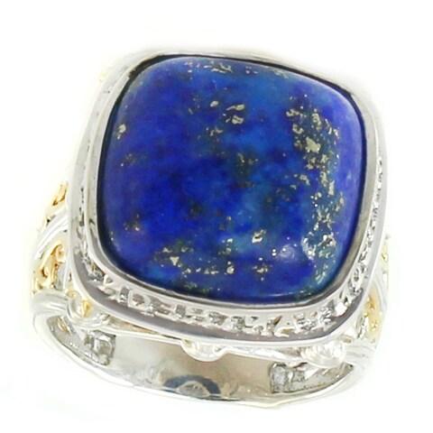 Michael Valitutti Palladium Silver Pantheon Paris Lapis Ring
