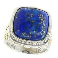 Michael Valitutti Palladium Silver Pantheon Paris Lapis Ring