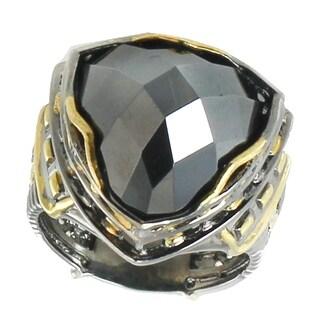 Michael Valitutti Palladium Silver Palais Du Louvre Hematite Ring