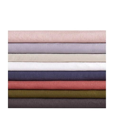 Brooklyn Loom 100% Natural Flax Linen 4-piece Bed Sheet Set