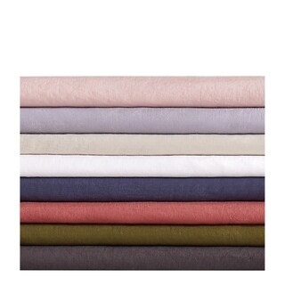 Brooklyn Loom 100% Natural Flax Linen 4 Piece Sheet Set