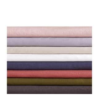 Brooklyn Loom 100% Natural Flax Linen 4 Piece Sheet Set