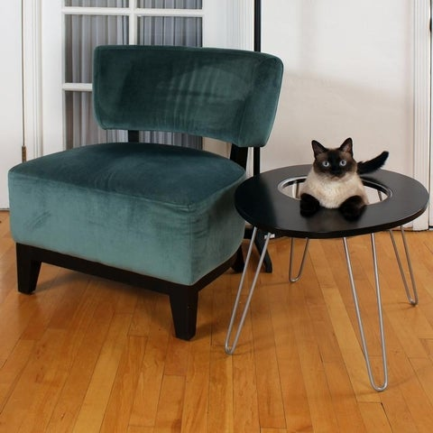 Hauspanther NestEgg - Raised Cat Bed & Side Table by Primetime Petz