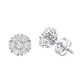 Unique Diamond Earrings Studs in 14k Gold 1ctw by Luxurman