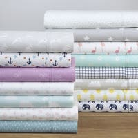 Pointehaven 200TC Cotton Percale Prints and Solids Sheet Set