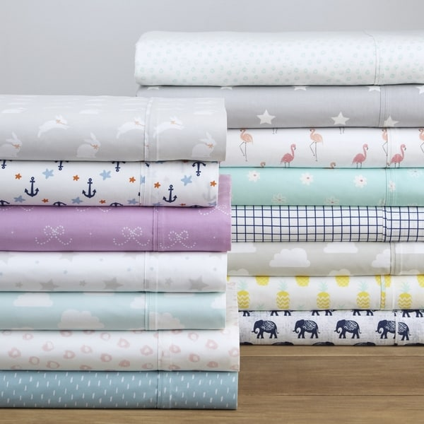 Pointehaven 200TC Cotton Percale Prints and Solids Bed Sheet Set. Opens flyout.