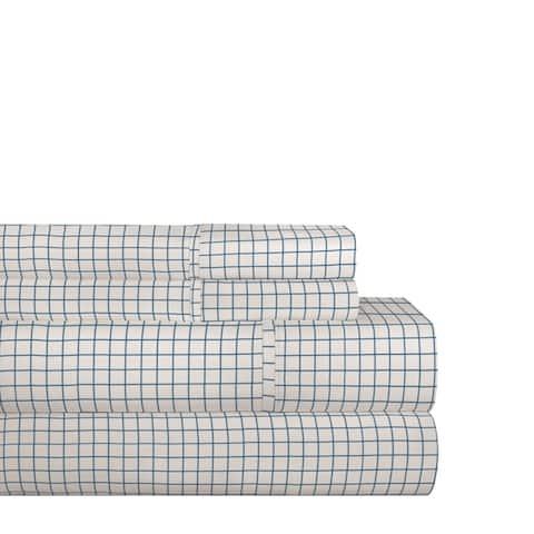 Pointehaven 200TC Cotton Percale Prints and Solids Bed Sheet Set