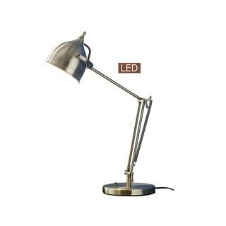 "Artiva USA CAPRICE 27.5"" LED Desk Lamp with Dimmer-Satin Brass"