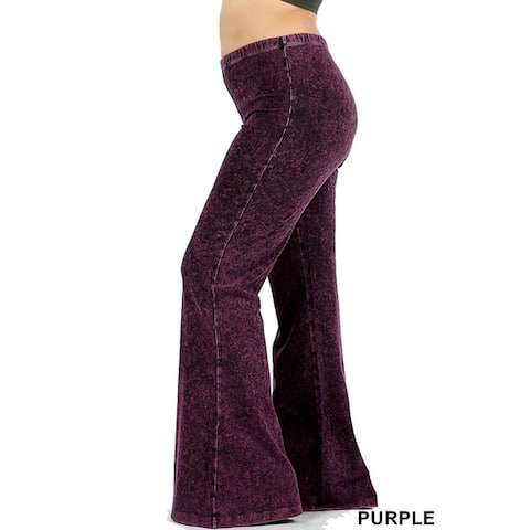 JED Women's Plus Size Ultra Flared Mineral Washed Pants