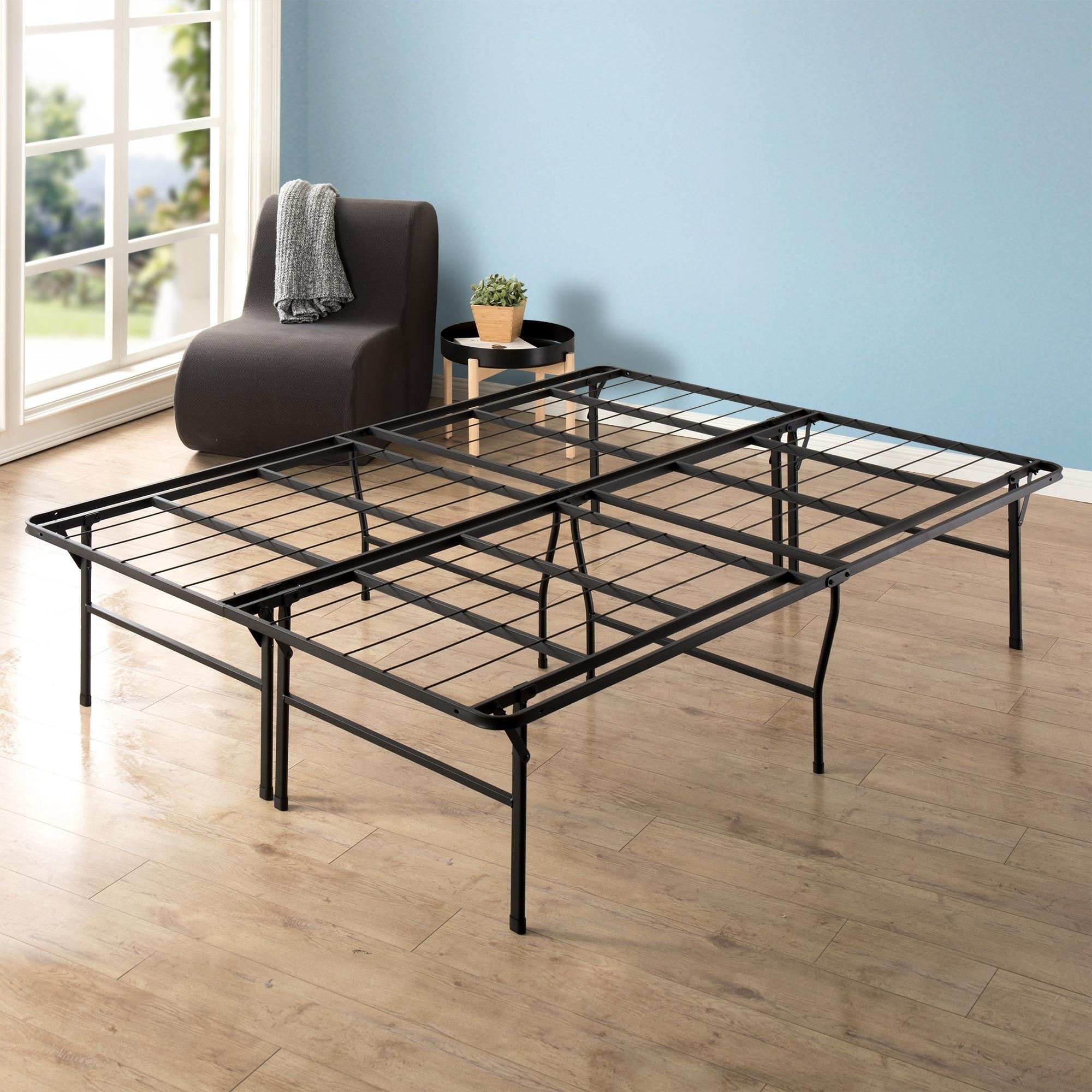California King Size 18 Inch Metal Platform Bed Frame Crown Comfort On Sale Overstock 21474546