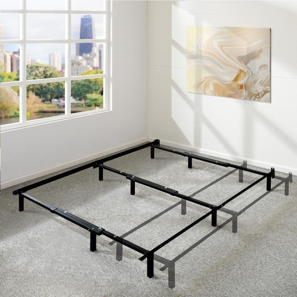 newest d4971 16fb8 Adjustable 7 Inch Metal Platform Bed Frame, Compatible With Full, Queen,  And King Size - Crown Comfort