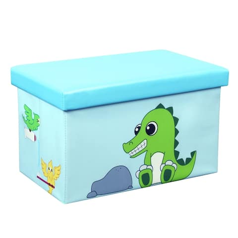23 Inch Toy Storage Chest Organizer, Crocodile and Bird - Crown Comfort