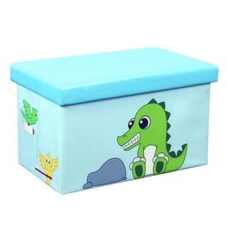 23 Inch Toy Storage Chest Organizer, Crocodile and Bird - Crown Comfort