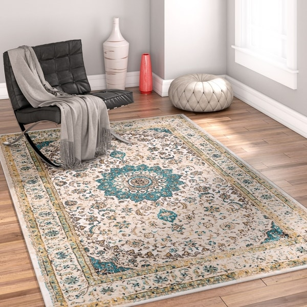 "Well Woven Traditional Medallion Area Rug - 5'3"" x 7'3"""