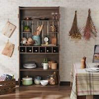Furniture of America Ivan Rustic Distressed Walnut Baker's Rack