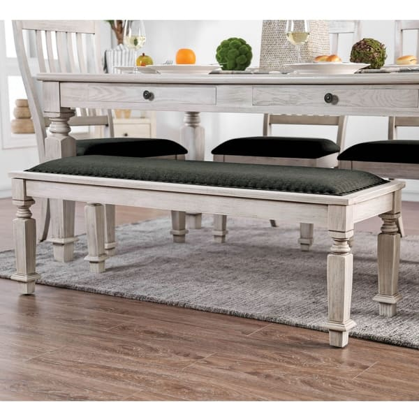Remarkable Shop Tyler Rustic Antique White Dining Bench By Foa On Machost Co Dining Chair Design Ideas Machostcouk