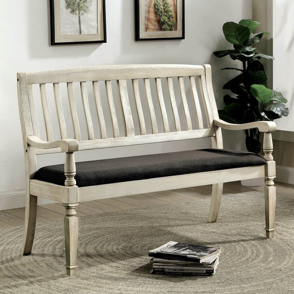Charmant Furniture Of America Tyler Rustic Farmhouse Loveseat Bench
