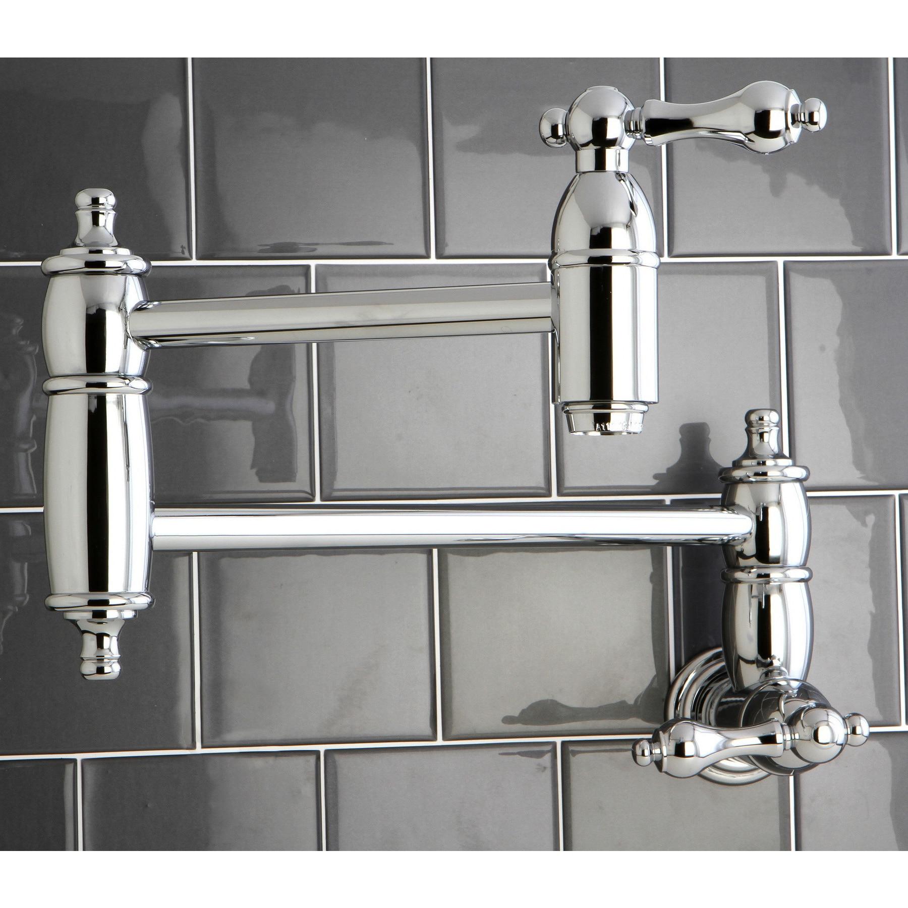 Kitchen \'Pot Filler\' Chrome-plated Faucet
