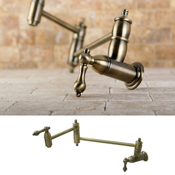 Pot Sink Faucet : Restoration Kitchen Vintage Brass Pot-filler Faucet - Free Shipping ...